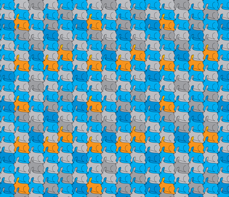 Rabbits fabric by ebygomm on Spoonflower - custom fabric