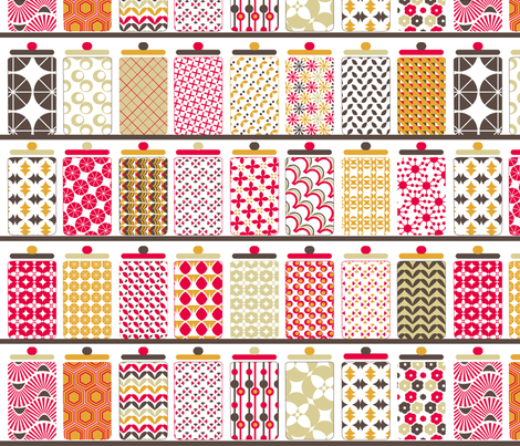 Kitchen boxes fabric by demigoutte on Spoonflower - custom fabric