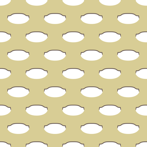1920s Retro Kitchen Weird Pois (white/brown on beige) fabric by majobv on Spoonflower - custom fabric