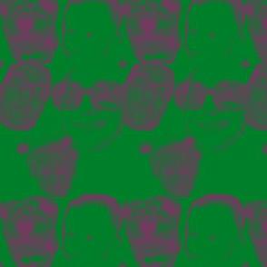 familycurtain green