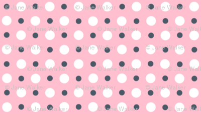 Pink, Gray, and White Polka Dots ©2011 by Jane Walker