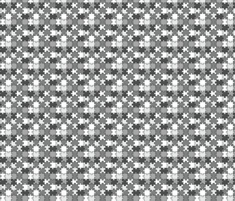 Puzzle - Jigsaw fabric by studiofibonacci on Spoonflower - custom fabric