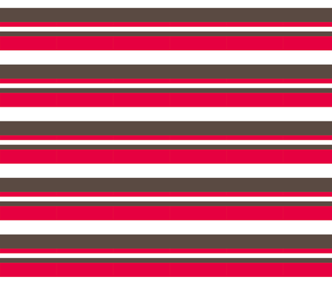1920s Retro Kitchen Stripes (red/white/brown) fabric by majobv on Spoonflower - custom fabric