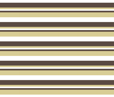 1920s Retro Kitchen Stripes (beige/white/brown) fabric by majobv on Spoonflower - custom fabric
