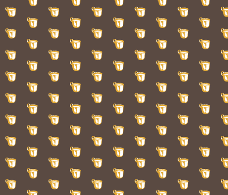 1920s Retro Kitchen Baby Cup (orange on brown)  fabric by majobv on Spoonflower - custom fabric