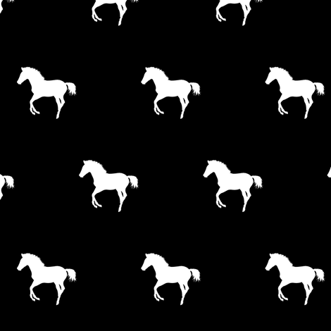 Frolicking Colt Silhouette, S fabric by animotaxis on Spoonflower - custom fabric