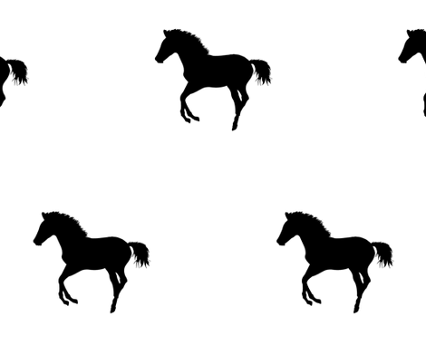 Frolicking Colt Silhouette 2, L fabric by animotaxis on Spoonflower - custom fabric