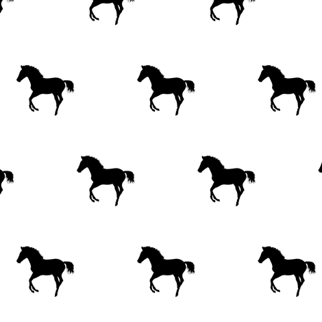 Frolicking Colt Silhouette 2, S fabric by animotaxis on Spoonflower - custom fabric