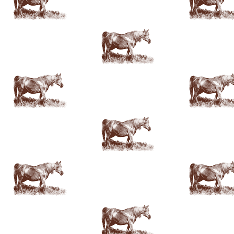 Mare Sepia Vignette, S fabric by animotaxis on Spoonflower - custom fabric