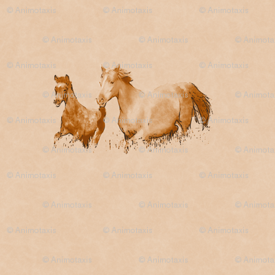 Mare With Foal 1, L