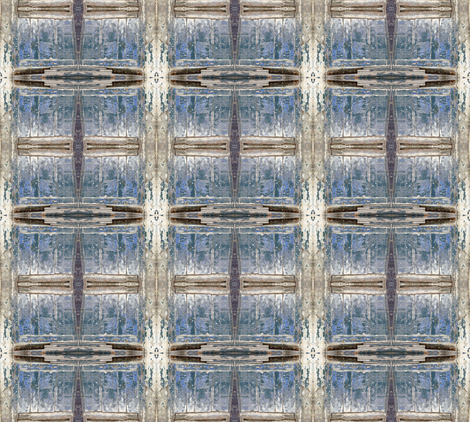 Old Blue - Wooden Wonder Wall fabric by susaninparis on Spoonflower - custom fabric