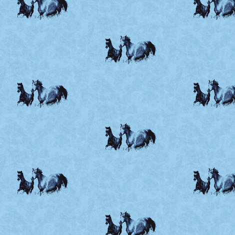 Mare With Foal 3, S fabric by animotaxis on Spoonflower - custom fabric