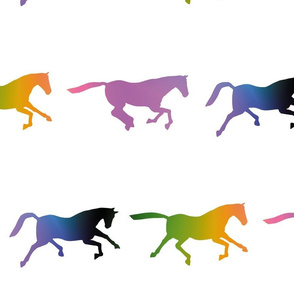 Galloping Rainbow Horses, L