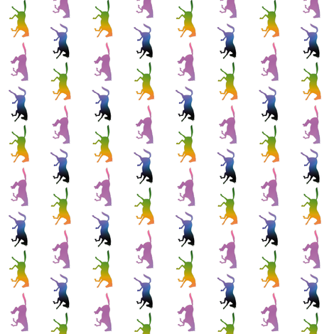 Galloping Rainbow Horses Border, S fabric by animotaxis on Spoonflower - custom fabric