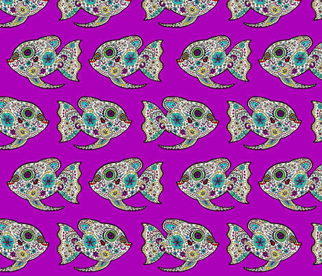 Go With the Flow Little One fabric by lovekittypink on Spoonflower - custom fabric