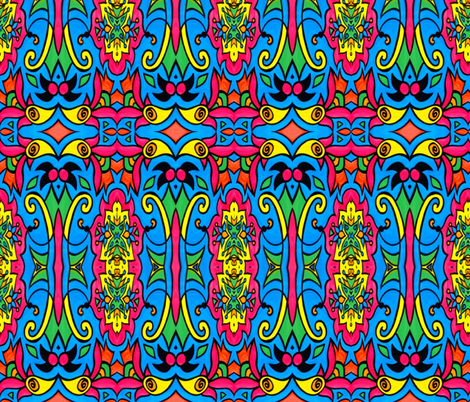 Psychedelic Eye Pop fabric by whimzwhirled on Spoonflower - custom fabric