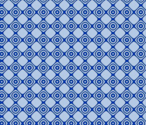 Blue Diamonds and Circles © Gingezel™ 2012 fabric by gingezel on Spoonflower - custom fabric