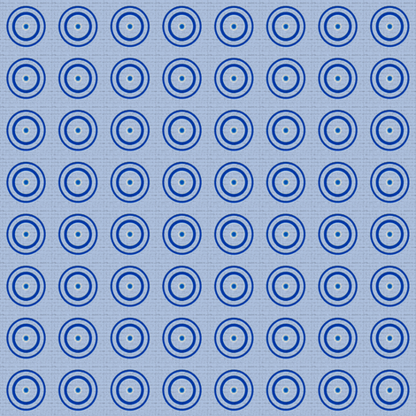 Retro Blue Dots © Gingezel™ 2012 fabric by gingezel on Spoonflower - custom fabric