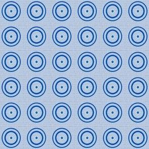 Retro Blue Dots © Gingezel™ 2012