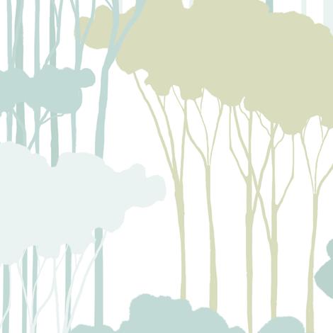 Woods on White fabric by nicoletamarin on Spoonflower - custom fabric