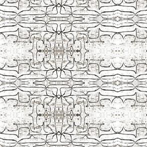 Pattern on white