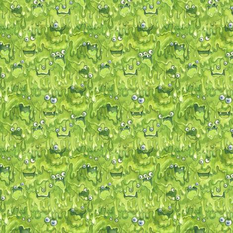 Slimy Monsters Mini fabric by nicoletamarin on Spoonflower - custom fabric