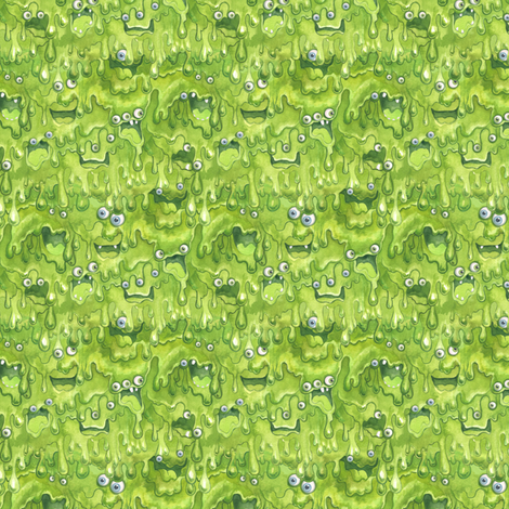 Slimy Monsters Mini fabric by nicoletamarin on Spoonflower - custom fabric