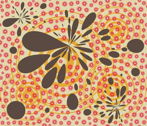 retro kitchen splotches fabric by larksfeatherstudio on Spoonflower - custom fabric