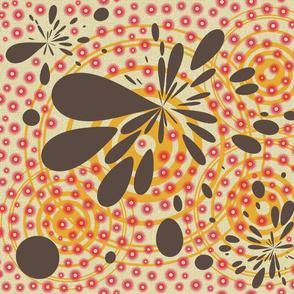 retro kitchen splotches