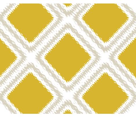 diamond ikat fabric by mollycoddle on Spoonflower - custom fabric