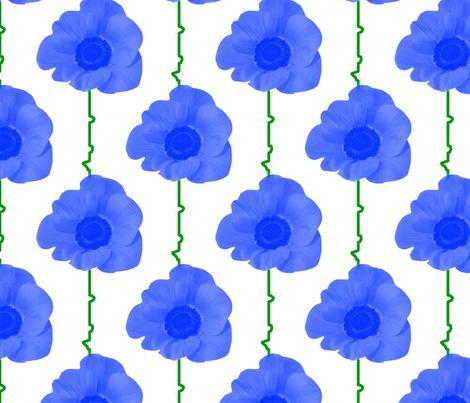 blue_poppies fabric by suziwollman on Spoonflower - custom fabric