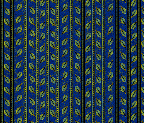 Cool Leaves Stripes fabric by glimmericks on Spoonflower - custom fabric