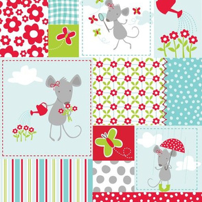 Milly Mouse Rain Patchwork