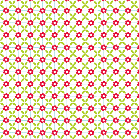 Milly MouseFlowers fabric by bzbdesigner on Spoonflower - custom fabric