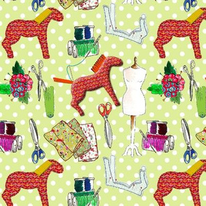 couture amour de couture vert M