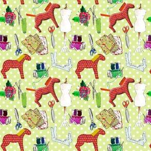 couture amour de couture vert S