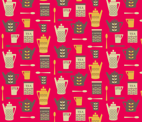 retrokitchen fabric by feathertree on Spoonflower - custom fabric