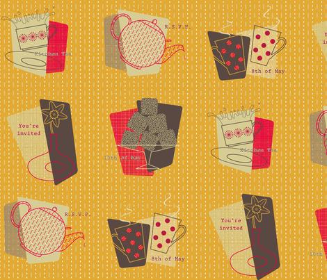 Kitchen Tea fabric by nekineko on Spoonflower - custom fabric