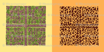 two singles congo kuba-cloth designs