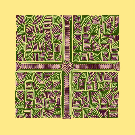 two singles congo kuba-cloth designs fabric by weavingmajor on Spoonflower - custom fabric