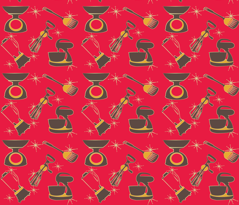 kitchen kitsch fabric by lazydee on Spoonflower - custom fabric