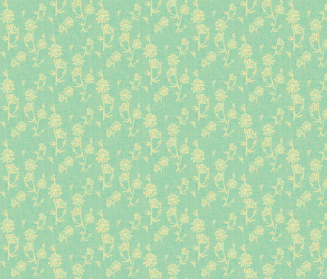 Chicory Vintage Robins Egg Blue fabric by retrofiedshop on Spoonflower - custom fabric