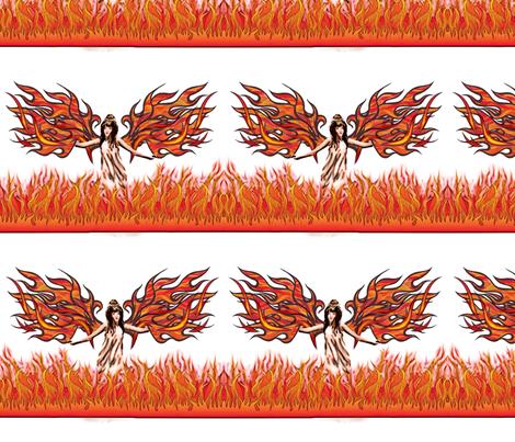 fire_angel fabric by vinkeli on Spoonflower - custom fabric
