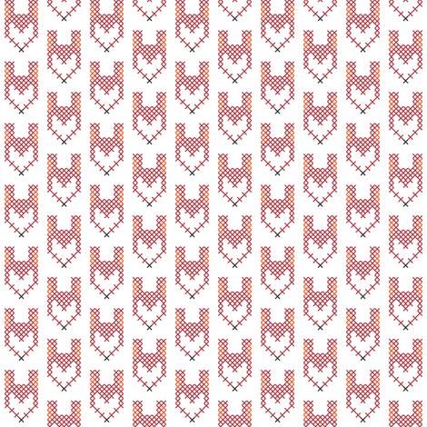 Cross Stitch Red Fox fabric by sára_emami on Spoonflower - custom fabric