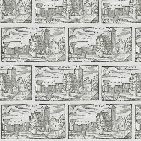 Schloß Schmiechen (Schmiechen Castle) fabric by jannon on Spoonflower - custom fabric