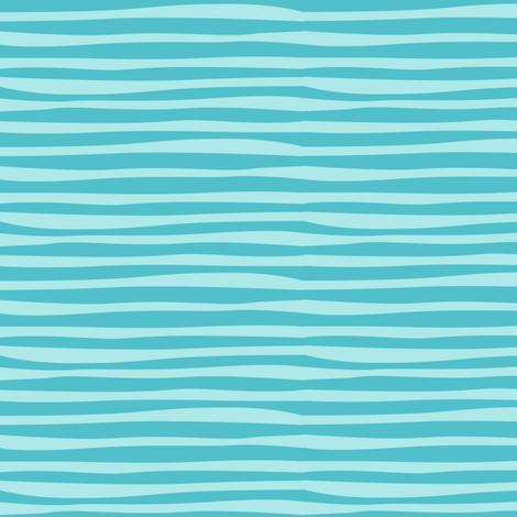 Rainforest_Babies_Aqua_Stripe fabric by bzbdesigner on Spoonflower - custom fabric