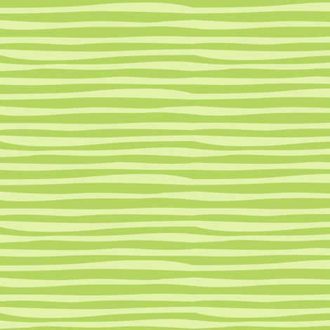 Rainforest Babies Green Stripe fabric by bzbdesigner on Spoonflower - custom fabric