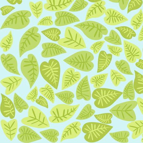 Rainforest Babies Leaves fabric by bzbdesigner on Spoonflower - custom fabric