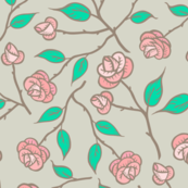 Garden Roses -Taupe