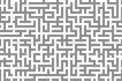 L Chain Maze In Grey